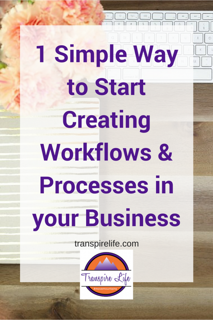 1 simple way to create workflows and processes in your business
