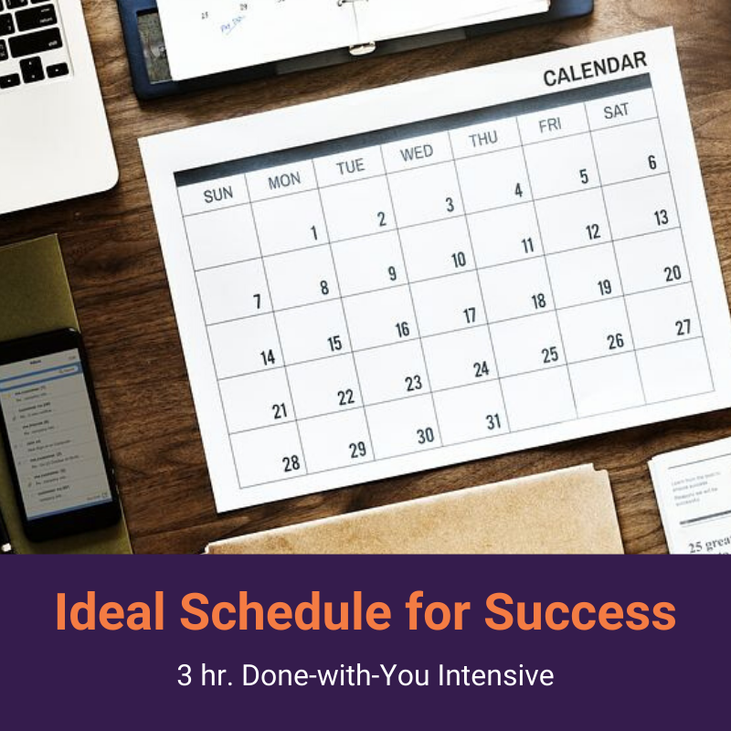 Simplified Ideal Schedule for Success 3-hour 1:1 Coaching Intensive | thesimplifiedoffice.com