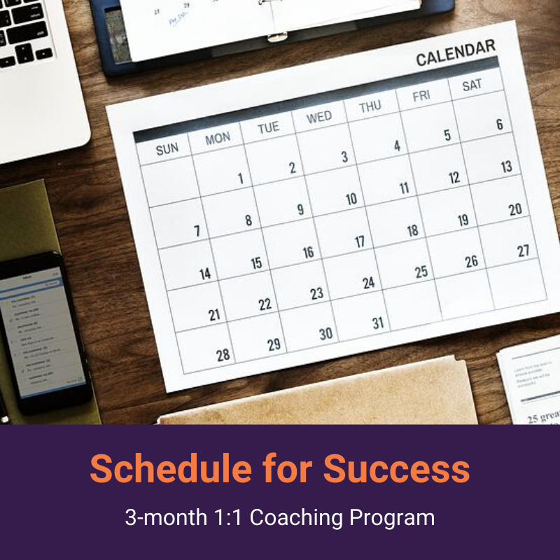 Schedule for Success 3-month 1:1 Coaching Program