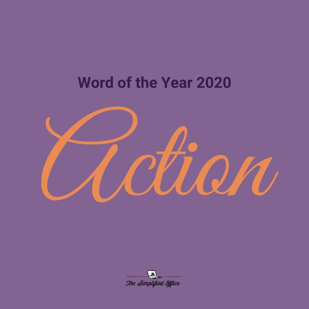 The Simplified Office Word of the Year 2020 - Action