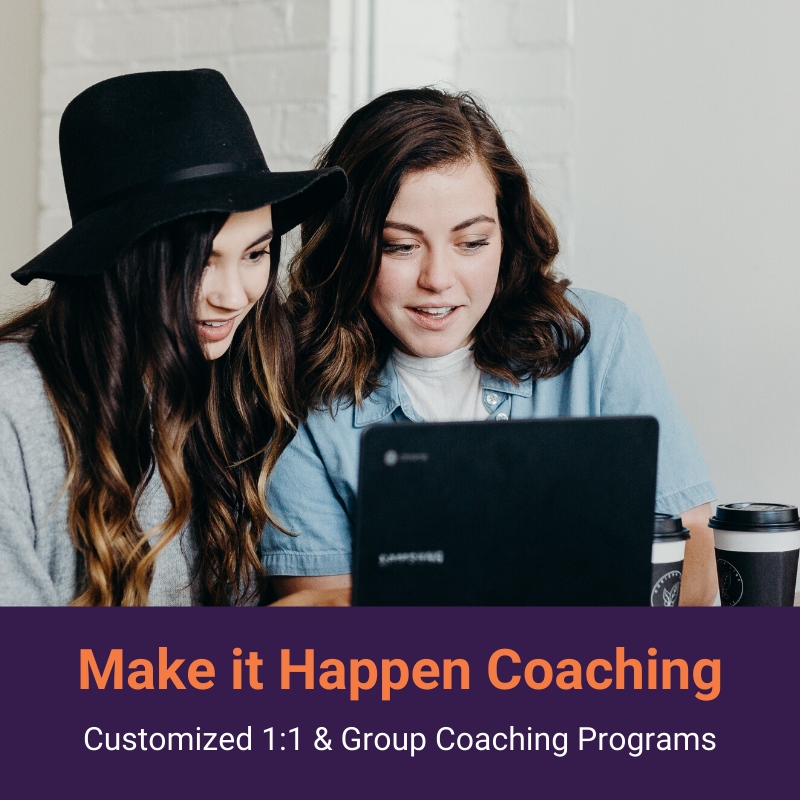 Make it Happen Coaching Programs | thesimplifiedoffice.com #timemanagement #productivity #getorganized #solopreneur #priorities